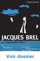 Spectacle Jacques Brel, l'affiche